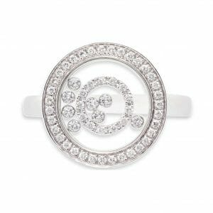 Enchanted Diamond Circle Ring | 18 Carat White Gold Dress Ring