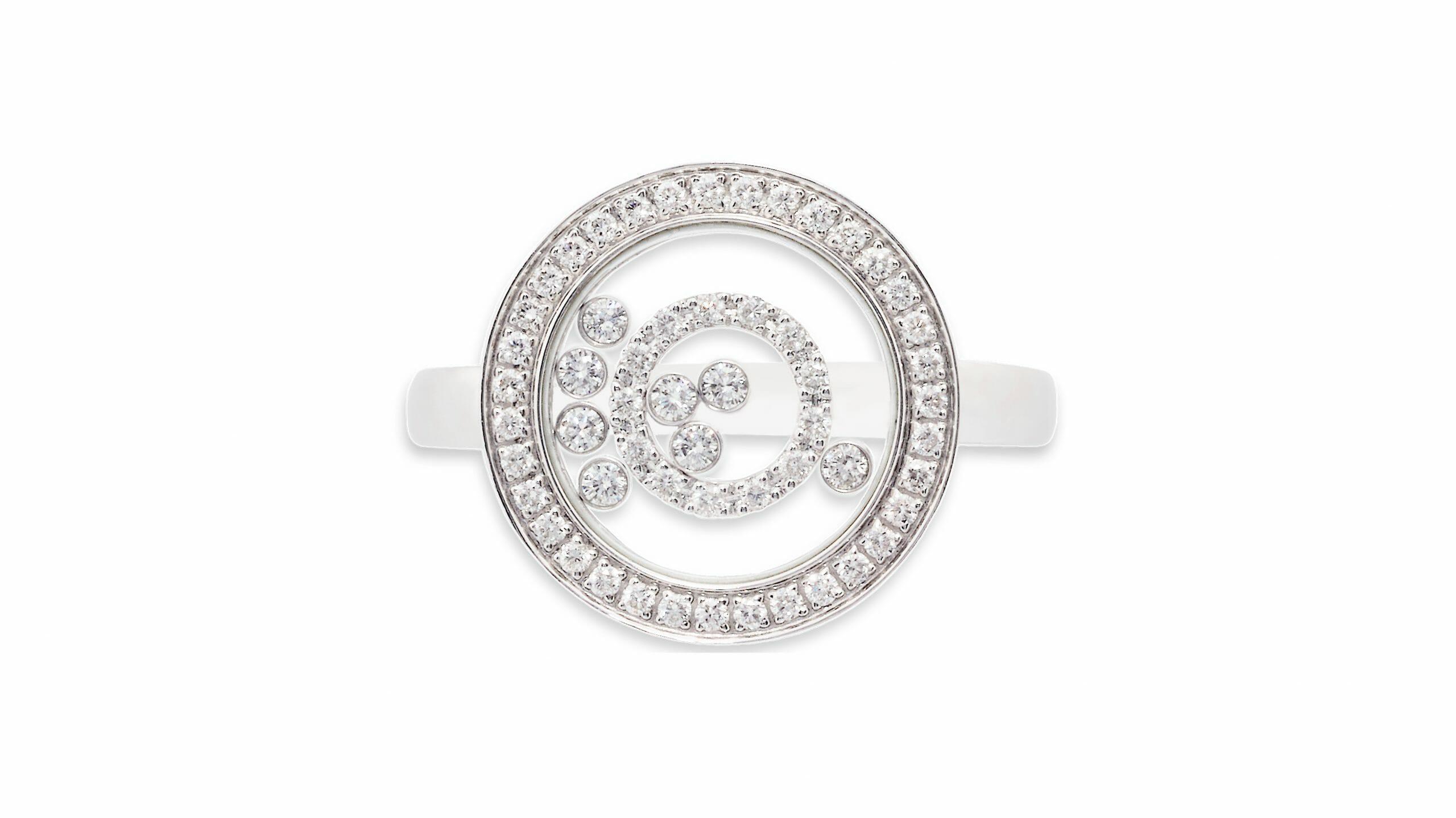 Enchanted Diamond Circle Ring | 18 Carat White Gold Dress Ring