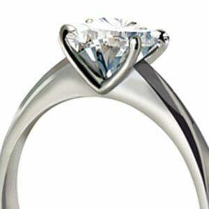 MS Signature Solitaire Ring Set In A Minimalist Platinum Setting