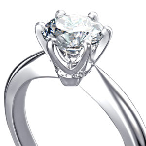 Diamond Engagement Ring |6 Claw Solitaire Ring Set In 18 Carat White Gold