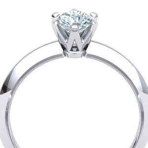 Knife -Edge Solitaire Ring | Diamond Engagement Ring
