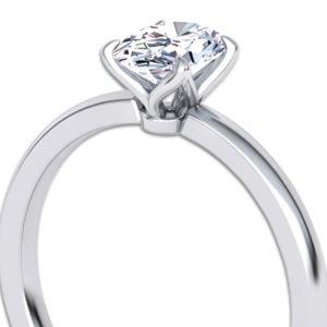 Oval Diamond Solitaire Ring | Diamond engagament ring set in 18ct white gold