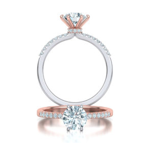 tapered 6 claw diamond solitaire | Diamond engagement ring
