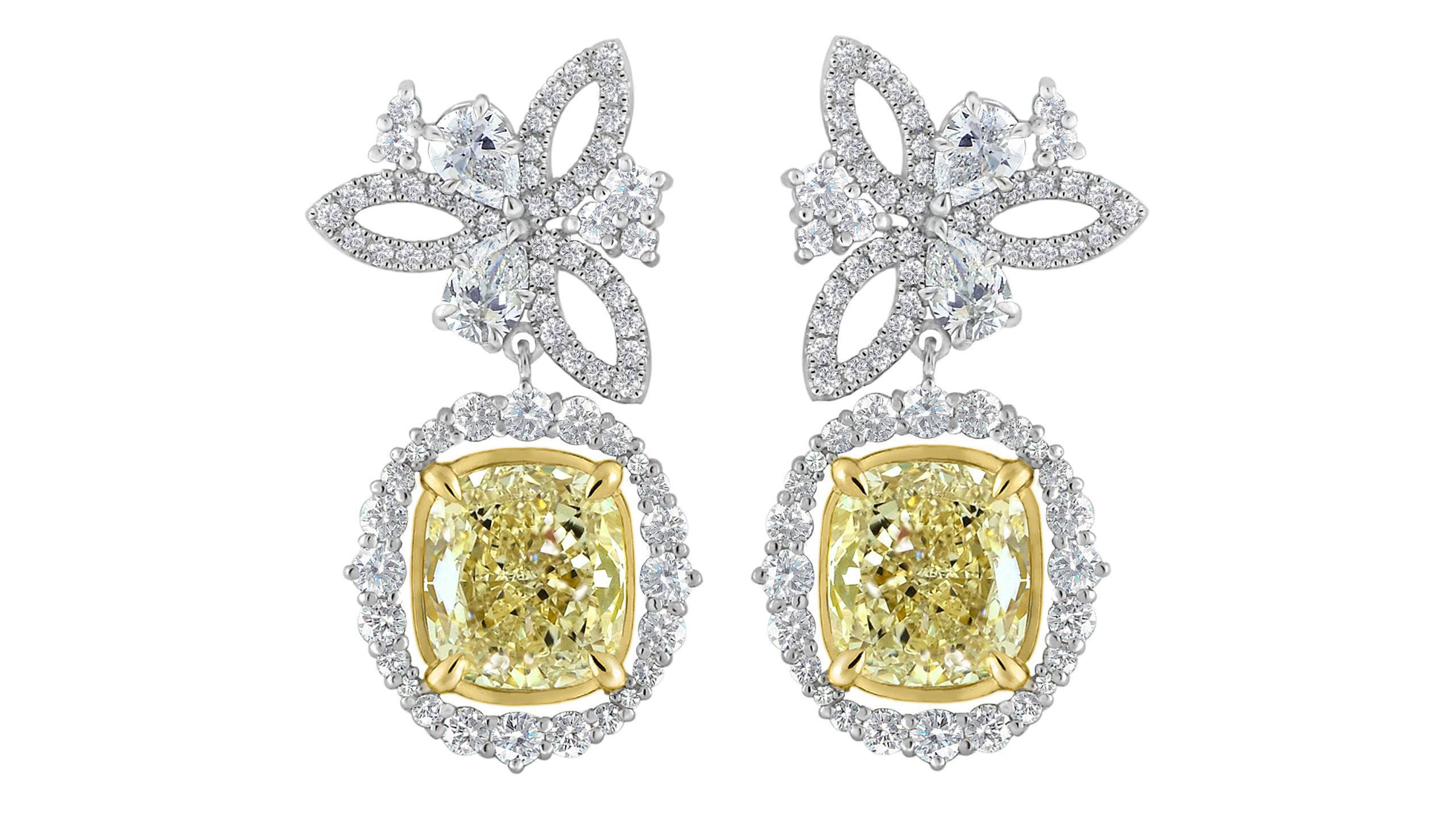 Celestial Garden Earrings | Diamond Earrings