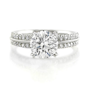 Vintage-Inspired Round Diamond Ring | Set in 18 carat white gold