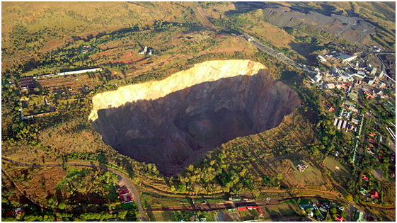 Aerial view of the Premier Mine, South Africa, where the Cullinan diamond was discovered | A History of Diamonds