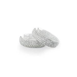 Clip On Diamond Pavé Hoops | Delicate 18 carat diamond pave hoop earrings