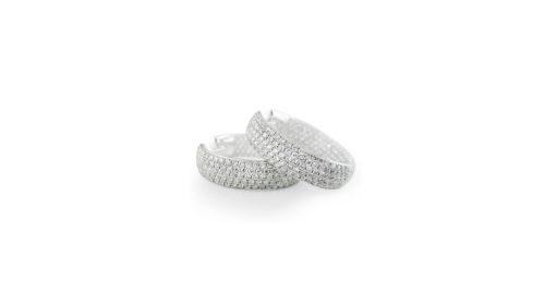 Clip On Diamond Pavé Hoops | Delicate 18 carat diamond pave hoop earrings