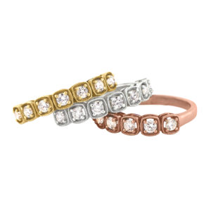 Diamond Eternity Rings | Cushion Vintage Inspired Eternity Rings