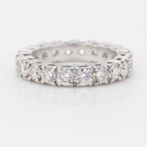 Classic Claw-Set Diamond Eternity Ring | Set in 18 carat crisp white gold | Diamond Wedding Band