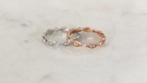 Vintage-Inspired Diamond Eternity Rings in rose gold, yellow gold, white gold | Diamond Wedding Rings
