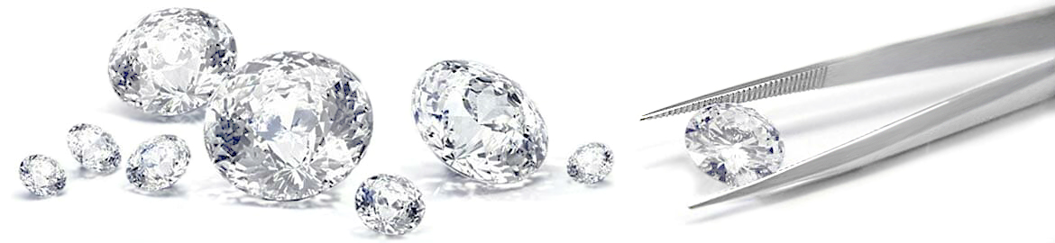 Diamonds Scattered Across White Background | Loose Certified Diamonds South Africa
