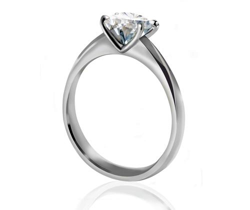 Round brilliant cut diamond ring | Mark Solomon Signature Solitaire Diamond Ring |