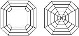 Diamond Cut Education | Diagram of Asscher Cut Diamond