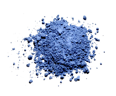 Natural ultramarine pigment made from ground lapis lazuli gemstone | Via Wiki Commons