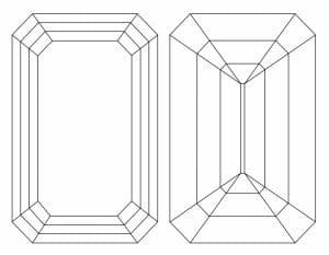 Diamond Cut Education | Diagram of Step Cut Diamond