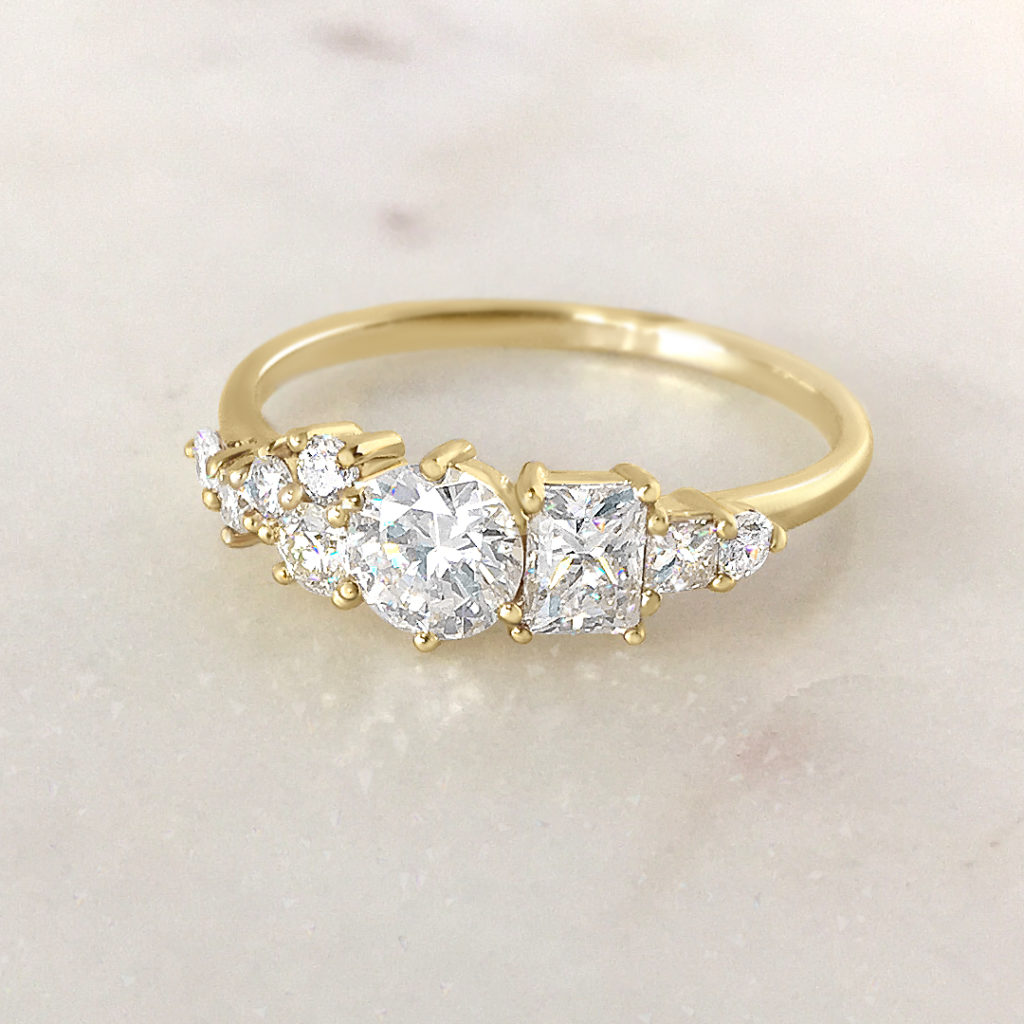 The custom made jewellery process |  A special collaboration with a client, using a thoughtful combination of our own diamonds & diamonds that are sentimental to our client