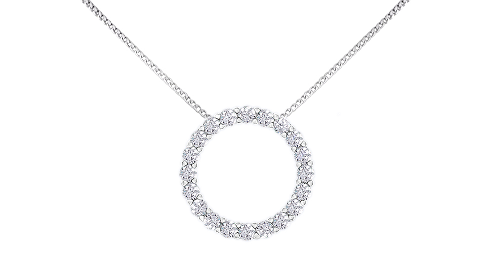 Circle of life diamond pendant | White Gold Diamond Pendant